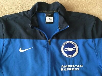 Brighton & Hove Albion Tracksuit Top /zipped Jacket 'Med' Blue Nike No Reserve