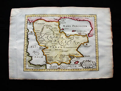 1676 VAN DER KEERE - orig. map: Asia Minor, Saudi Arabia, Middle East Oman Qatar