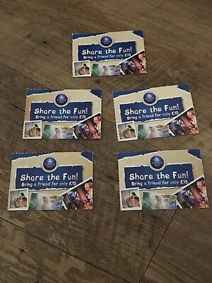 5 x Share The Fun For £15 - Annual Pass Vouchers for Merlin Theme Parks