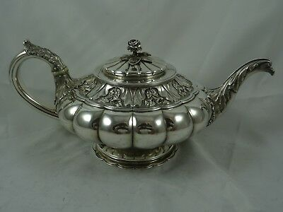 MAGNIFICENT GEORGE IV solid silver TEA POT, 1828, 790gm
