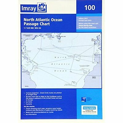 Imray Chart 100: North Atlantic Ocean Passage Chart - Map NEW Imray (Author) 201