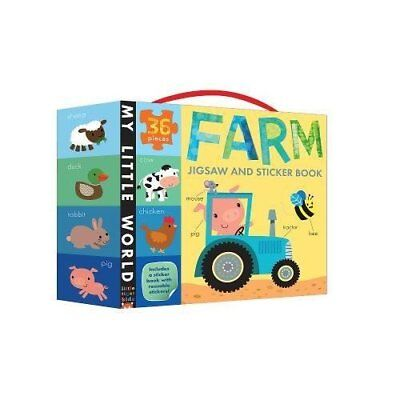 Farm Jigsaw and Sticker Book (My Little World) - Hardcover NEW Jonathan Litton 2