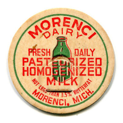 Morenci Dairy MI Milk Bottle Cap Lenawee County Michigan Mich M I