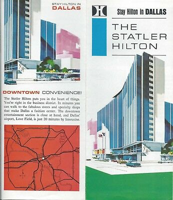 Statler Hilton Hotel DALLAS Texas - vintage travel brochure