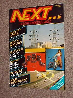 "NEXT Magazine November 1982 Issue - Great Magazine: ""Living In Tomorrow's World"""