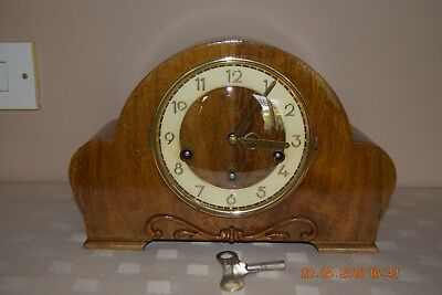 Vintage Germany Westminster Chime Mantel Clock - H.A.C - Working