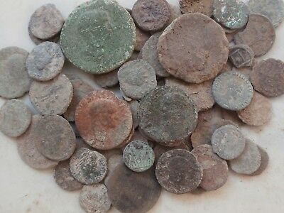 Metal detecting finds – 60+ Roman Coins