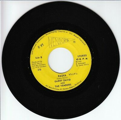"7"" GARRY DAVIS & THE VENDORS ""Rasha"" BAHAMAS hear listen  [vg+]"