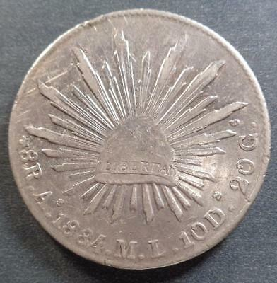 1884As M.L. Republic of Mexico Silver 8 Reales