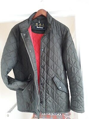 Barbour green flyweight chelsea quilted jacket size medium