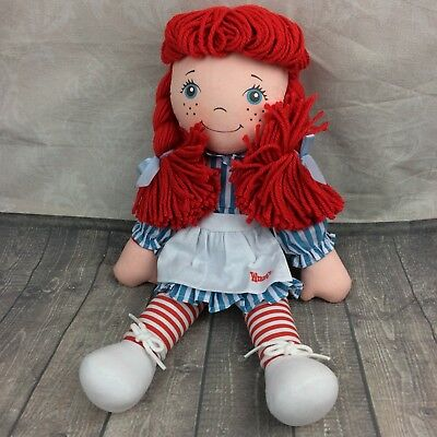 """Wendy's Fast Food Promotional Rag Doll Plush Collectible 13"""" resturant #C"""