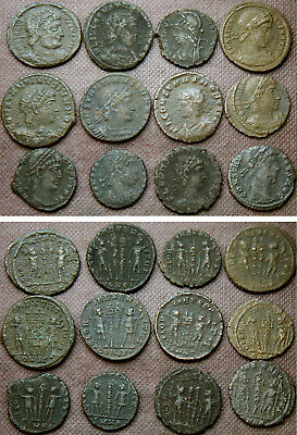 12 Later Roman Ae Coins