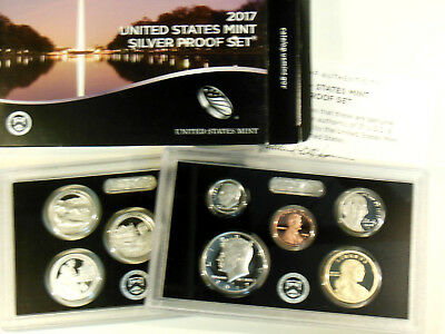2017 United States       Silver Proof Set       Original Box And Cert