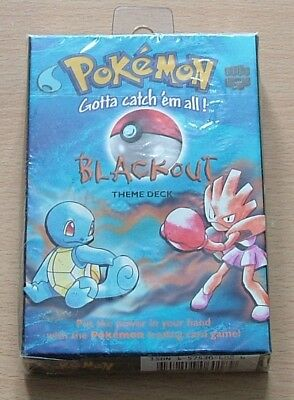 Pokemon Blackout Theme Deck WOC06018 Trading Card Game Wizards Of The Coast 1999