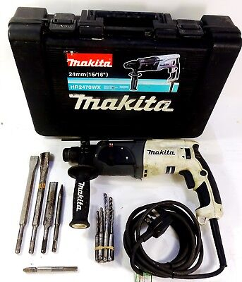 Makita HR2470 WX SDS+ 3 Mode Hammer Drill with Chisel Function 240v 780W White