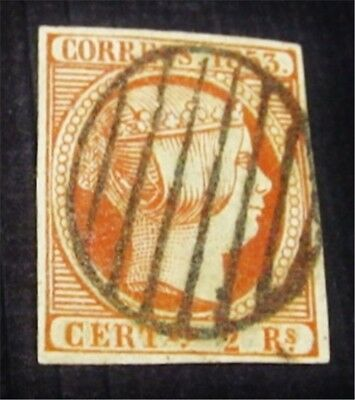 nystamps Spain Stamp # 21 Used $2000 Signed