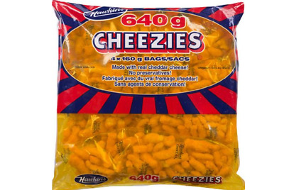 HAWKIN'S CANADIAN CHEEZIES 4x160g BAGS=640g Real Cheddar Cheese FRESH