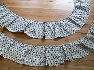 """2 pieces of Antique  Civil War Era Fabric for Dolls or Projects 8'X 48"""" +72"""" L"""