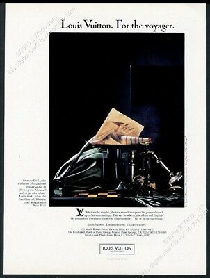1987 Louis Vuitton green leather Randonnee bag photo vintage print ad