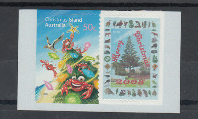 Christmas isl. 2008 50c Xmas Imperforated at right. MNH. Very Scarce & Cheap