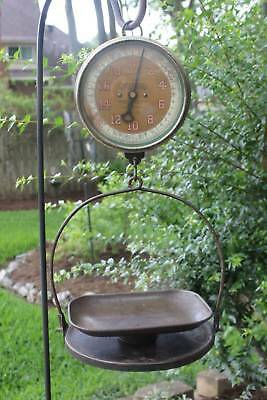 Antique Landers Frary & Clark Type 33 Hanging Scale With Pan