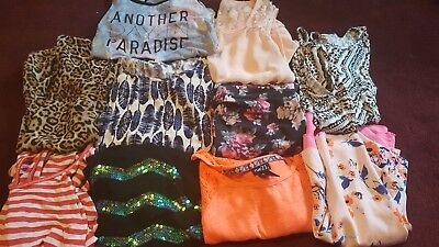 Lot of 10 womens juniors size L Large tops tanks summer clothing cute trendy
