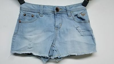 Justice Jeans Distressed Frayed Hem Mini Shorts For Girls Size 8R