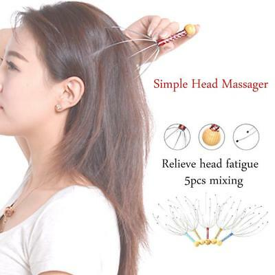 Travel Head Scalp Neck Massager Relax Relief Therapeutic Stress Headache Tension
