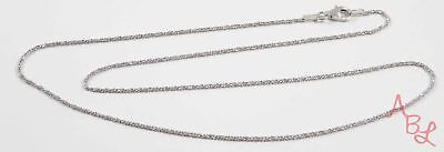 Charles Garnier Sterling Silver Beautiful Diamond Cut Necklace 18'' 2.3g 724400