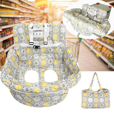 Protable Baby Shopping Cart Cover Trolley Cushion Pad Chair Safety Seat Mat Grey