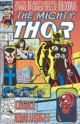Thor (1st Series Journey Into Mystery) #456 1992 VF Stock Image