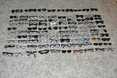 Group / Lot of ( 100 ) Authentic Ray Ban  Sunglasses / Frames