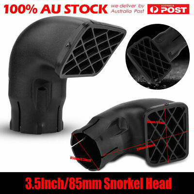 "3.5"" SNORKEL AIR RAM HEAD 85MM For SAFARI AIRFLOW ALL BRAND REPLACEMENT 4x4 4wd"