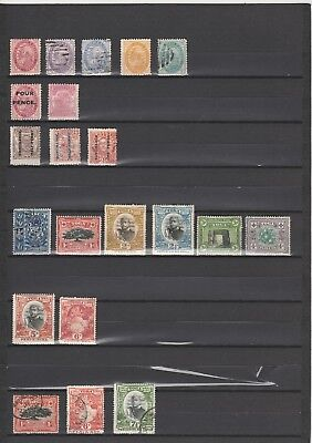 Tonga  1887 - 1900  Collection  mint & used