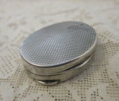 Antique Silver Hallmarked 800 Pill Box