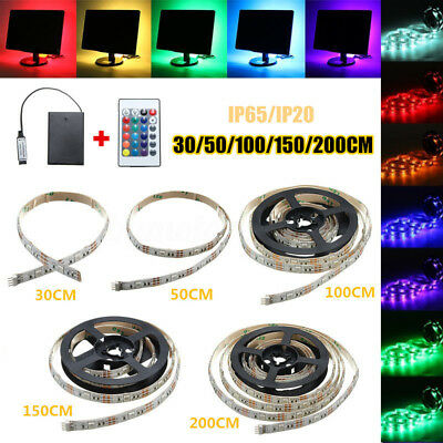 30-200m 5050 LED Lampe Flexible Strip Bande Ruban Batterie Étanche+ Télécommande