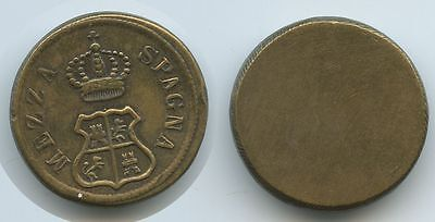 M168 - Italien Mezza Spagna Coin-Weight Münz-Gewicht 13,3 Gramm Messing