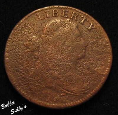 1797 Draped Bust Large Cent <> S-126 R3 <> AG to G Details