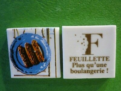 Feve Plate Perso Boulangerie Feuillette Limoges Les Eclairs   Recto/verso