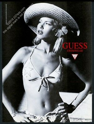 1995 bikini woman photo by Dewey Nicks Guess Swimwear fashion vintage print ad