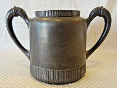 Rogers Smith & Co Meriden Ct Quadruple Double Handle Silver Plated Sugar Bowl