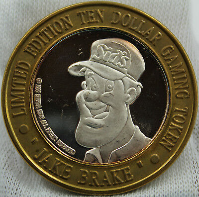 """Jake Brake"", Siera Sid's, Limited Ed. $10 Gaming Token"
