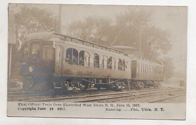 RPPC 1907 1st Train Over Electrified West Shore Railroad By Manning Utica, NY