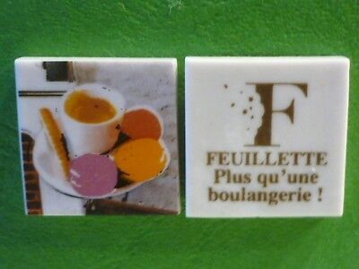 Feve Plate Perso Boulangerie Feuillette Limoges  Cafe Gourmand  Recto/verso
