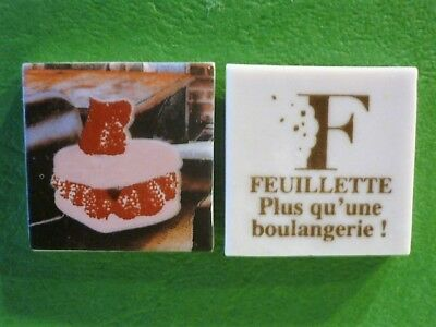 Feve Plate Perso Boulangerie Feuillette Limoges  Coeur Macaron  Recto/verso
