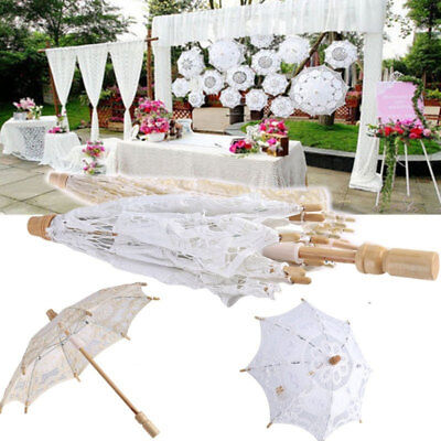 1PC Embroidered Wedding Party Parasol Lace Umbrella Photography Bridal Decor