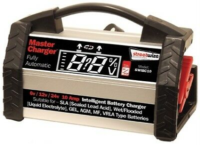 Master Charger Heavy Duty Automatic Intelligent Battery Charger 6/12/24v 10 Amp