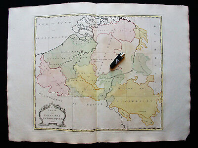 1755 GOOS & PALAIRET - Big Wall-Map of NETHERLANDS, HOLLAND, BELGIUM, BRUSSELS