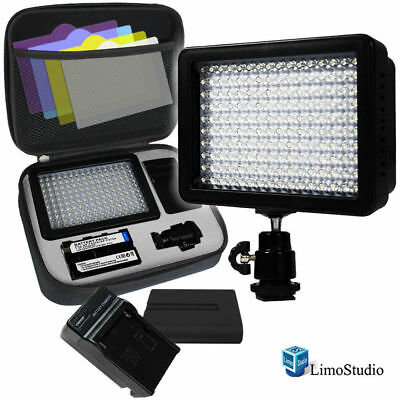LimoStudio 160 LED Video Light Lamp Panel Dimmable for DSLR Camera DV Camcorder
