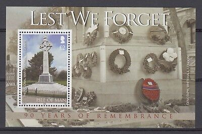 ISLE OF MAN 2008 LEST WE FORGET MINIATURE SHEET.Starting at Just 59p (REF 21518)